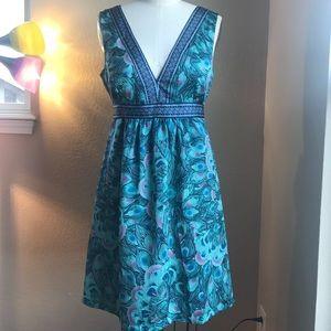 H & M peacock dress size 10